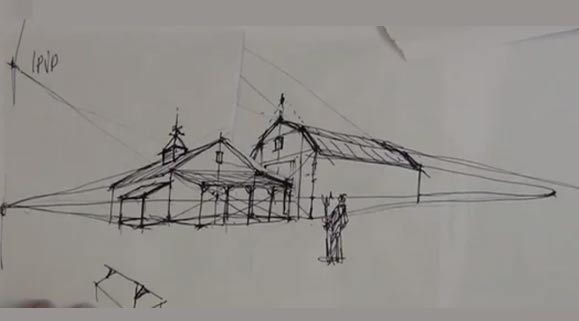 Drawing Barn Forms in Perspective: 2 point