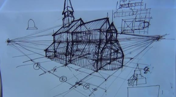 Stave Church Plan Lift Method Two