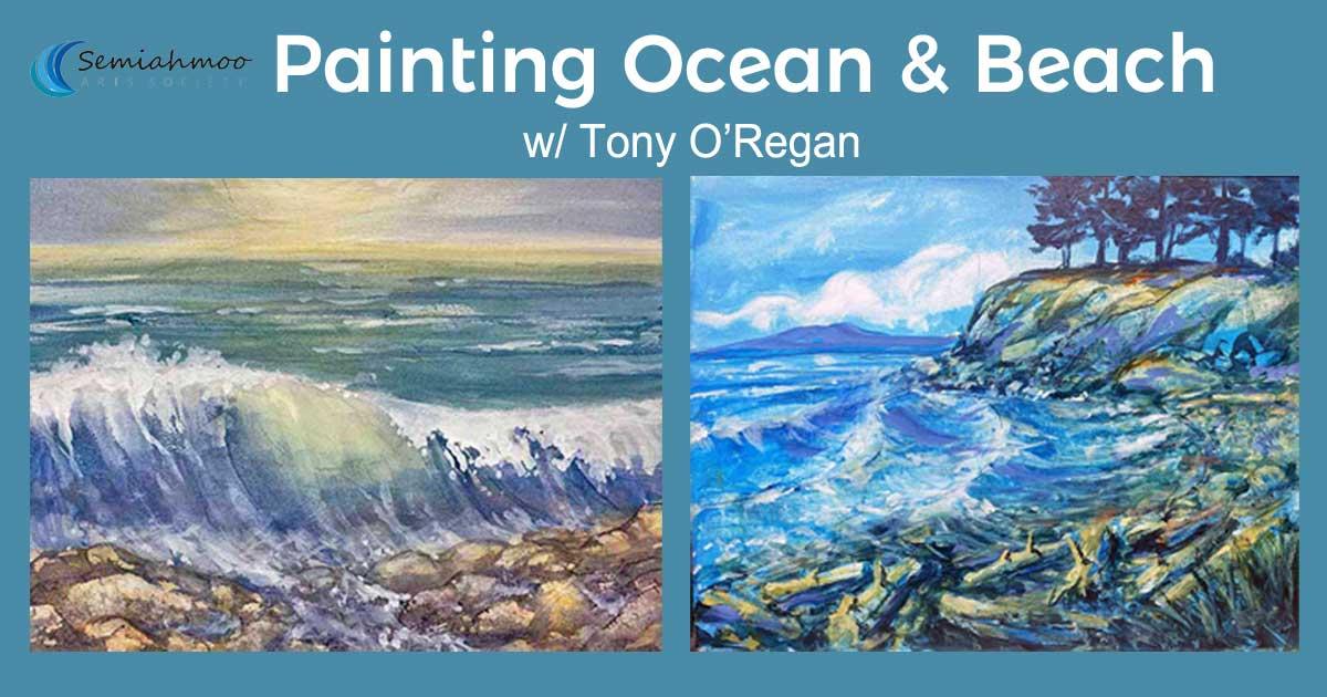 PAINTING OCEAN AND BEACH